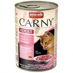 Animonda Carny Adult z wołowiną, indykiem i krewetkami 400g