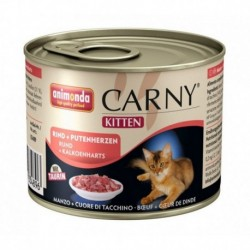 Animonda Carny Kitten z wołowiną i indykiem 200g