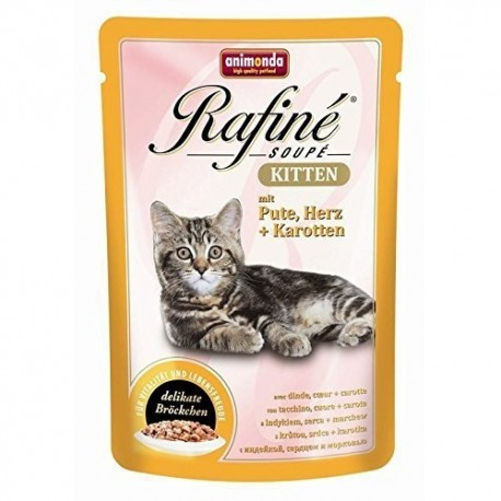 Animonda Rafine Soupe Kitten indyk, serca marchew 100g