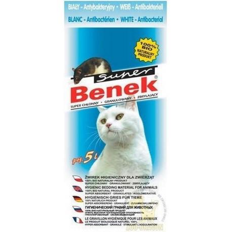 Super Benek Compact Line żwirek dla kotów antybakteryjny biały 5l