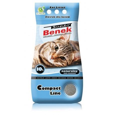 Super Benek Compact Line żwirek dla kotów antybakteryjny lawendowy 10l