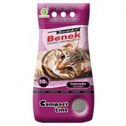 Super Benek Compact Line żwirek dla kotów lawendowy 10l