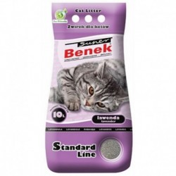 Super Benek Standard Line żwirek dla kotów lawendowy 10l