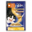 Purina Felix Sensations Sauces indyk w sosie o smaku bekonu 100g