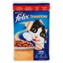 Purina Felix Sensations wołowina w galaretce z pomidorami 100g