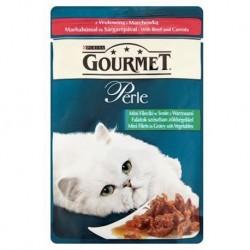 Purina Gourmet Perle wołowina i marchewka 85g