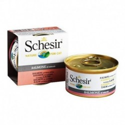 Schesir Nature for cat z łososiem w sosie własnym 85g