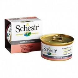 Schesir Nature for cat z łososiem w sosie własnym 85g