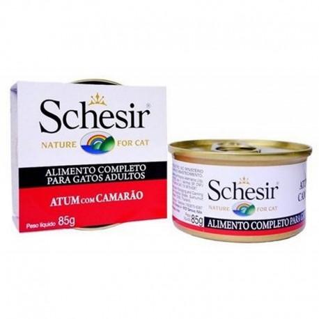 Schesir Nature for cat z tuńczykiem i krewetkami w galaretce 85g