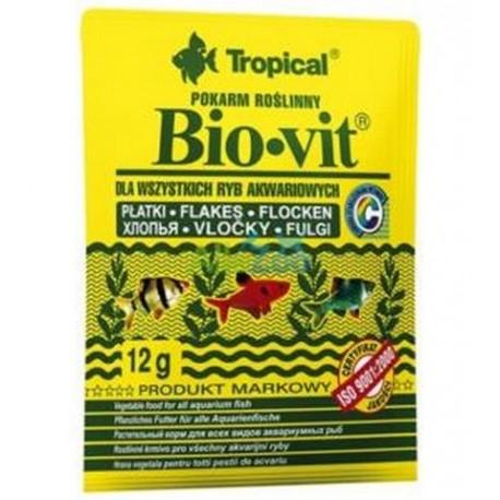 Tropical biovit pokarm roślinny dla ryb akwariowych 12g