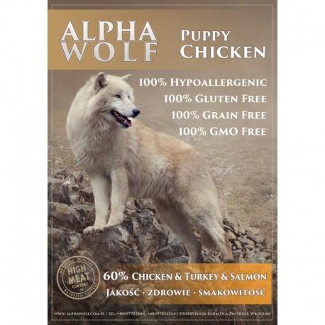 AlphaWolf JUNIOR kurczak z batatami,marchweka i groszkiem małe i średnie rasy 2kg