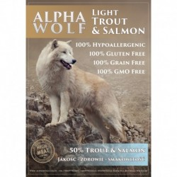 AlphaWolf Light łosoś z pstragiem i batatami 2 kg